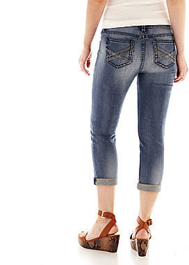 JCPenney a.n.a Thickstitch Denim Cropped Pants