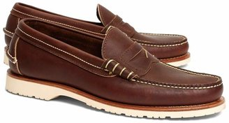 Brooks Brothers Red Wing Amber Mini Lug Penny Loafers