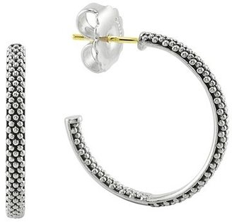Women's Lagos Caviar Hoop Earrings $195 thestylecure.com