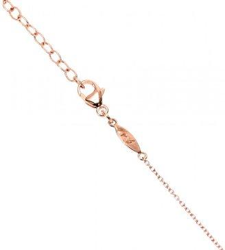 Jacquie Aiche 14KT ROSE GOLD PARTIAL WHITE DIAMOND LONG TEARDROP CHRYSOPRASE BEZEL NECKLACE