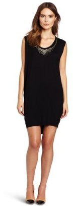 Velvet by Graham & Spencer Velvet Women's Dallas Jewel Trim Cocoon Dress