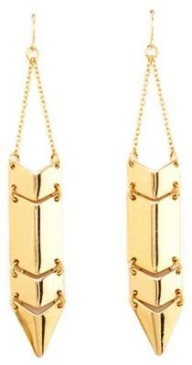 Charlotte Russe Linked Metallic Dagger Earrings
