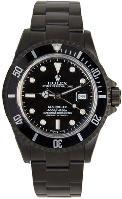 Black Limited Edition Matte Black Limited Edition Rolex Sea Dweller Watch $25,000 thestylecure.com