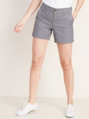 Old Navy Mid-Rise Twill Everyday Shorts for Women - 5-inch inseam