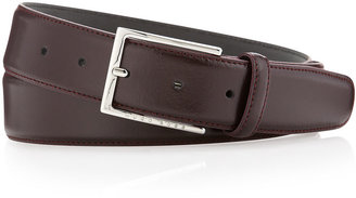 HUGO BOSS Underico Leather Belt, Burgundy