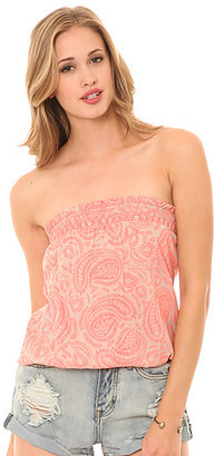 O'Neill The Serendipity Paisley Smock Top in Mist