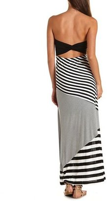 Charlotte Russe Bow-Back Striped Maxi Dress