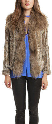Elizabeth and James Knitted Fur Kerri Jacket