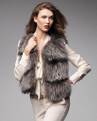 Lanvin Pologeorgis Fox Fur Vest