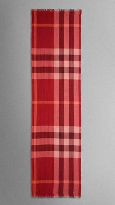 Burberry Check Silk Cashmere Scarf