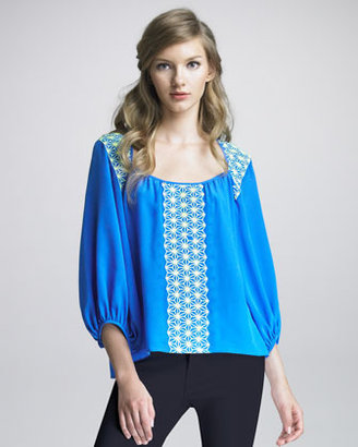 Nanette Lepore Serendipity Embroidered Blouse