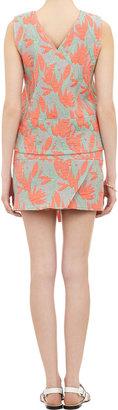 Kenzo Floral & Stripe Wrap-Around Mini Skirt