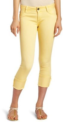 DL1961 Women's Toni Cropped Jean in Daffodil