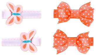 Carter's 4-pk. butterfly & dot bow hair clips - baby