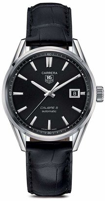 Tag Heuer Carrera Calibre 5 Stainless Steel Watch, 39mm