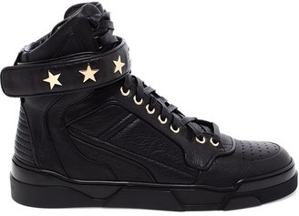 Givenchy Leather Hi-tops With Gold Studs