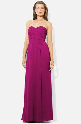 Lauren Ralph Lauren Wrapped Bodice Sweetheart Gown