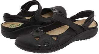 Naot Footwear Rongo (Jet Black/Black Patent Leather) Women's Hook and Loop Shoes