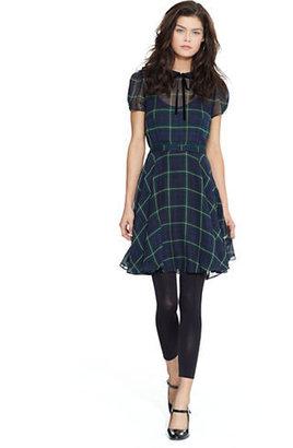 Polo Ralph Lauren Tartan Silk Georgette Dress