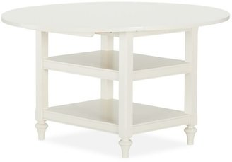 Pottery Barn Shayne Drop-Leaf Kitchen Table, Antique White