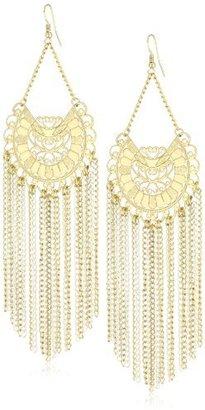 RAIN Gold Dangle with Chain Earrings