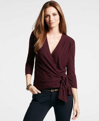 Ann Taylor 3/4 Sleeve Wrap Sweater