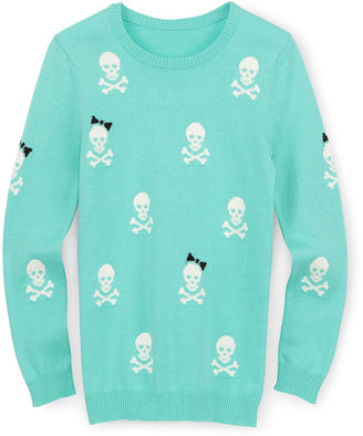 JCPenney Total Girl Skull Sweater - Girls 6-16