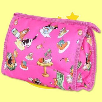 Frankie & Johnny Naughty Kitty Hot Pink Cosmetic Bag - Seen on NBC's In the Loop