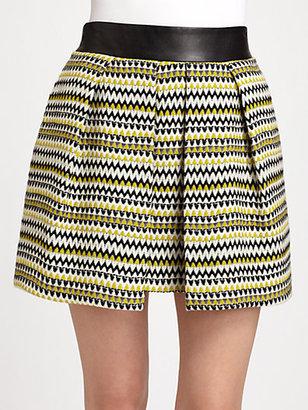 Milly Naomi Zigzag-Tweed Skirt