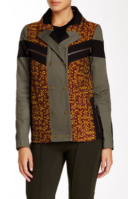 L.A.M.B. Mixed Media Military Jacket $475 thestylecure.com
