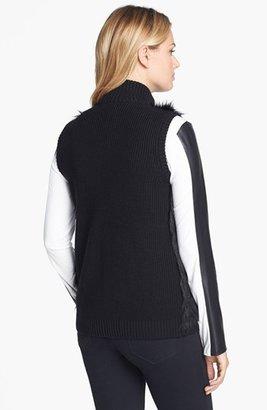 Calvin Klein Faux Fur Sweater Vest