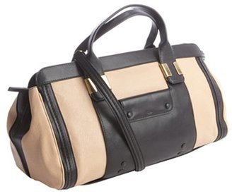 Chloé nude and black leather convertible short doctor bag