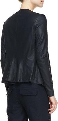 Vince Lightweight Draped Leather Jacket
