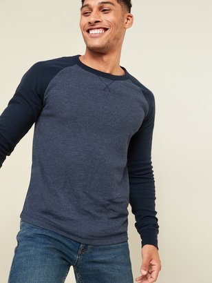 Old Navy Soft-Washed Color-Blocked Thermal-Knit Long-Sleeve Tee for Men