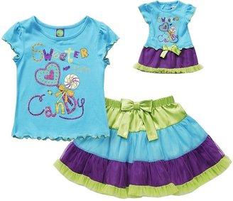 "Dollie & Me sweeter than candy"" top & tutu set - toddler"