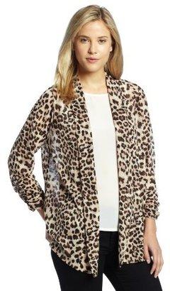 Chaus Women's Long Sleeve Animal Cardigan