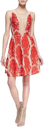Lulu For Love & Lemons Lace-Patterned Dress