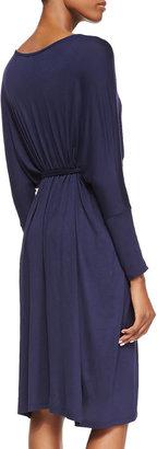 Melissa Masse Long-Sleeve Jersey Dress, Navy