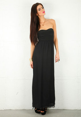 Twelfth St. By Cynthia Vincent Corset Maxi Dress in Black -
