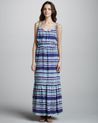 Trina Turk Dream Team Surf Stripe Maxi Dress