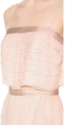 Nina Ricci Spaghetti Strap Long Gown