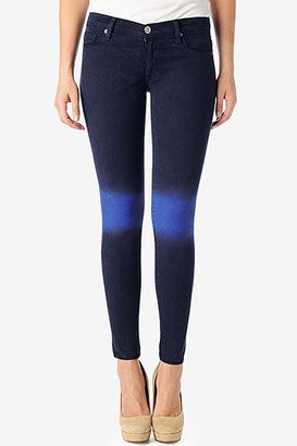 Hudson Jeans Krista Super Skinny- Black Iris/ Blue My Mind Ombre
