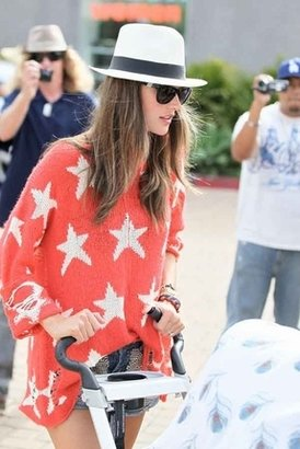 Wildfox Couture Seeing Stars Lennon Sweater in Free Love Red