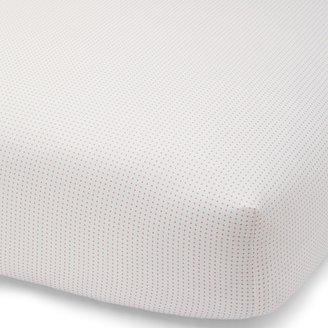 DwellStudio Rosette Blossom Pin Dot Fitted Crib Sheet