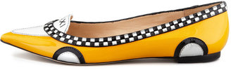 Kate Spade Go Taxi Pointed-Toe Flat
