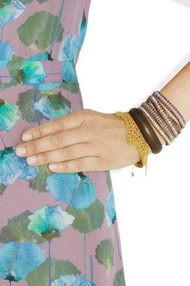 Chan Luu Silver, quartz and agate five-wrap bracelet