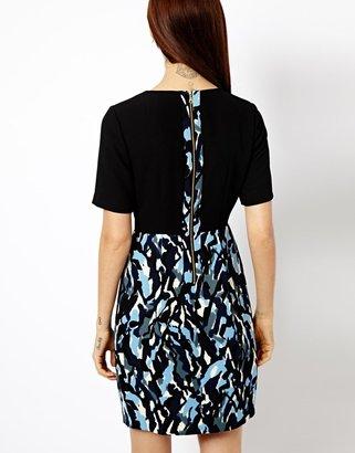 Whistles Clara Dress in Ripple Print