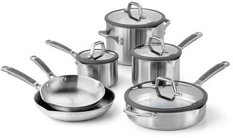 Calphalon Simply Easy System 10-pc. Stainless Steel Cookware Set