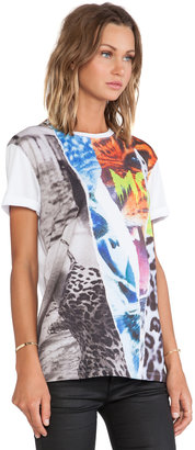 McQ by Alexander McQueen Ripped Print Boyfriend T-Shirt