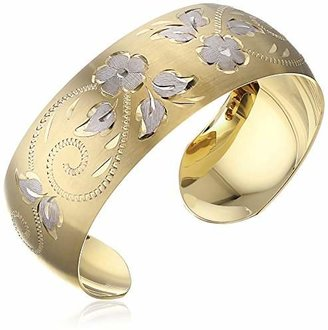 14k Yellow -Filled Hand Engraved Cuff Bracelet